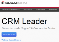 Website van SugarCRM