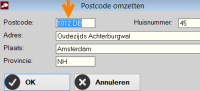 Postcodetabel